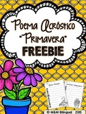 FREEBIE Spring Acrostic Poem {Spanish}