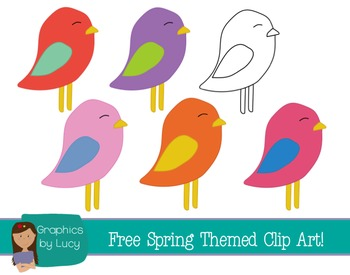 FREEBIE Spring Birds Clip Art! 6PNG Files {Personal and Commercial Use}