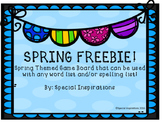 FREEBIE! Editable Spring Board Game for Any Word List!!