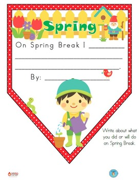 FREEBIE Spring Break Pennant Banner Worksheet
