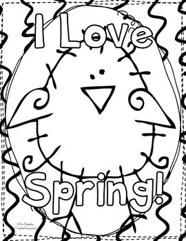 FREEBIE Spring & Easter Doodle Coloring Book ~ Holiday Gift  ~ Color