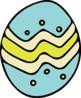FREEBIE – Spring Easter Egg Clip Art Set – 7 images
