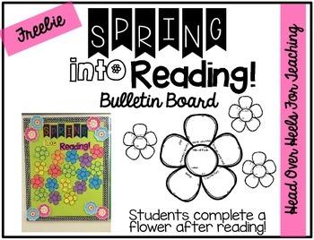 FREEBIE: Spring Into Reading Bulletin Board
