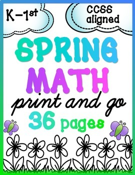 {FREEBIE!} Spring Math for K & 1 {Number Sense, Place Value, Adding/Subtracting}