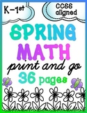 Spring Math for K & 1 {Number Sense, Place Value, Add/Subtract} - PREVIEW!