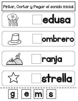 FREEBIE!  Spring NO PREP SPANISH Literacy Packet SAMPLER