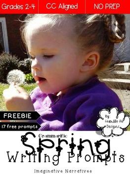 FREEBIE: Spring Writing Prompts