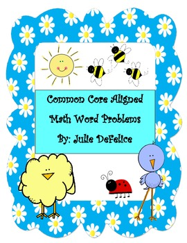 {FREEBIE} Spring and Test Prep Common Core Word Problems {FREEBIE}