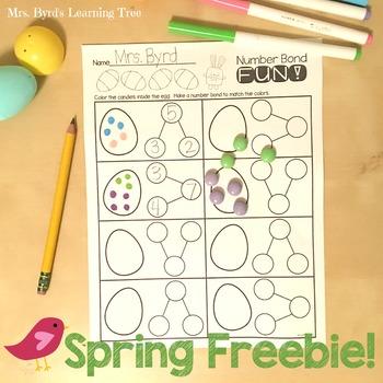 FREEBIE! Spring egg number bonds