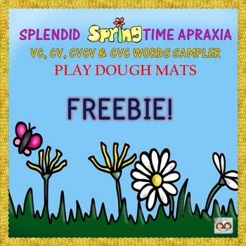 FREEBIE! Springtime Play Dough Mats For CV, VC, CVCV & CVC Words