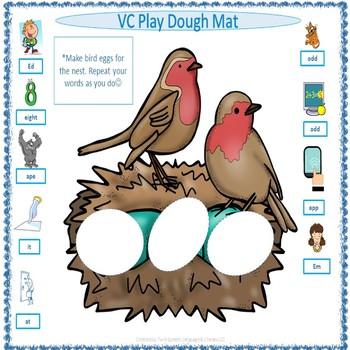 FREEBIE! Springtime Play Dough Mats For CV, VC, CVCV & CVC Words