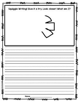 FREEBIE: Squiggle Writing Sample: Drawing + Writing = Creativity