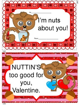 FREEBIE Squirrel Valentine Cards