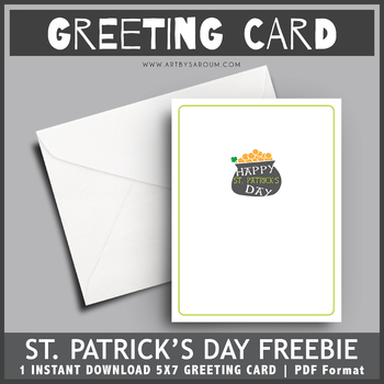 FREEBIE St. Patrick's Day Greeting Card