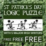 FREEBIE! St Patrick's Day Logic Puzzle, Irish-themed