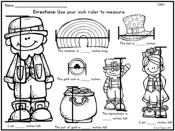FREEBIE- St. Patrick's Day Measuring in Inches