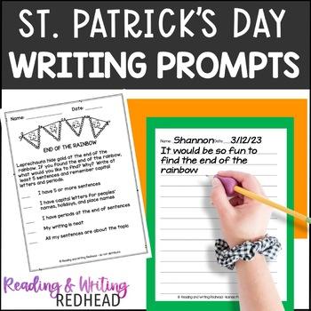 FREEBIE St. Patrick's Day Writing Prompt - NO PREP
