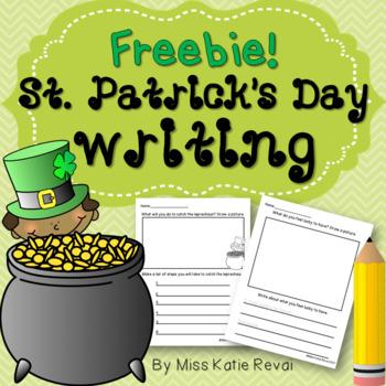 FREEBIE! St. Patrick's Day Writing for K-2