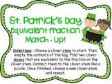 *FREEBIE* St. Patrick's Day Fraction Match Up