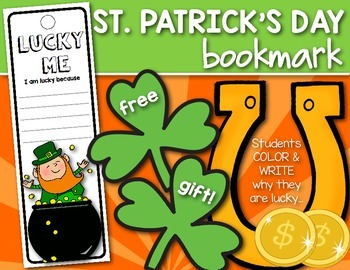 FREEBIE! St. Patrick's Day {LUCKY ME} Bookmark for First G