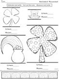 FREEBIE! {St. Patrick's Day} Nonstandard Measurment Math Work Station Sheet