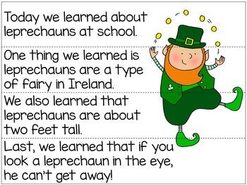 St. Patrick's Day Sentence & Paragraph Scrambles