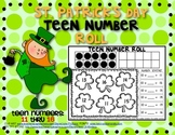 FREEBIE!!! St. Patrick's Day: Teen Number Roll Game
