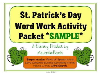 {FREEBIE!!} St Patrick's Word Search