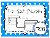 {FREEBIE} Staff Paper Printables