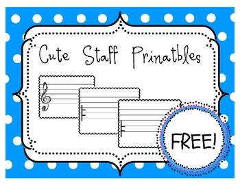 {FREEBIE} Staff Paper Printables