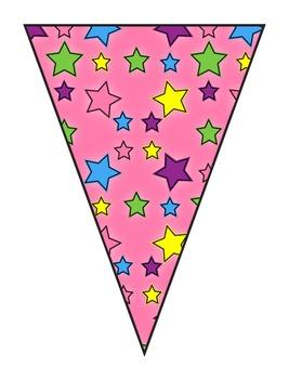 FREEBIE Star Classroom Theme Pennant Banner