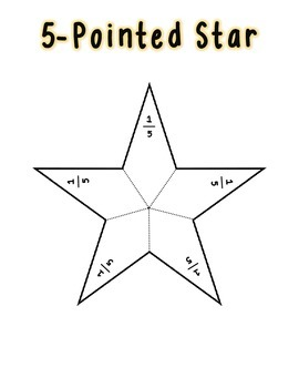 **FREEBIE** (Christmas or Astronomy) Star Fraction Puzzles