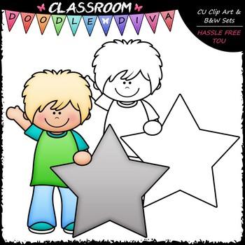 FREEBIE Star Student Clip Art - Star Kid Clip Art
