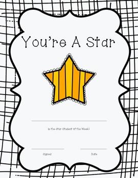 FREEBIE-Star Student Certificate