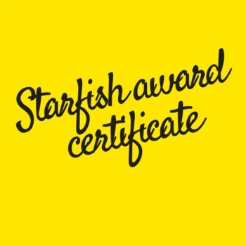 FREEBIE - Starfish Award Certificate