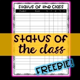 FREEBIE *EDITABLE* Status of the Class - Perfect for At-a-Glance Accountability