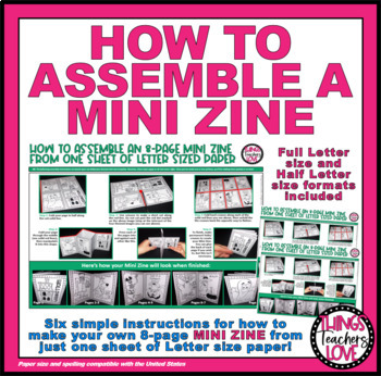 """FREEBIE - Step-By-Step Instructions + Photos """"How To Make An 8-Page Mini Book"""""""