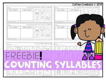 FREEBIE! Step Into Syllables {7 activities, 1 - 3 syllables}