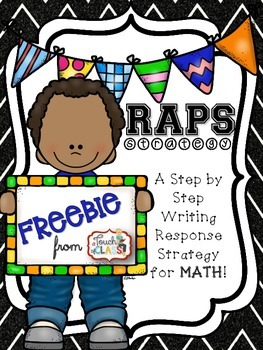 FREE Step by Step Writing Response Strategy for Math Performance Tasks