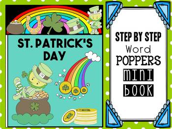 FREEBIE : Step by Step: Word Poppers Mini Book : St. Patrick's Day