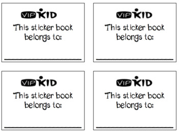 FREEBIE Sticker Book! {VIPKID or online teaching!}