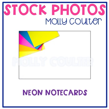 FREEBIE Stock Photo: Neon Notecards-Personal & Commercial Use