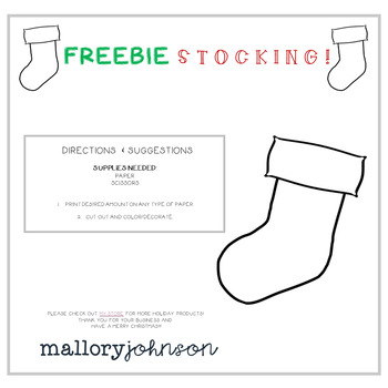 FREEBIE Stocking Template