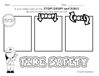 FREE! Fire Safety Activity: Stop! Drop! and Roll!
