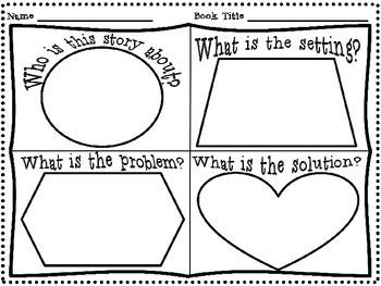 (FREEBIE!) Story Elements Graphic Organizer