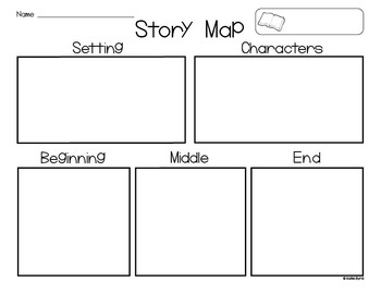 FREEBIE Story Map Setting Characters Beginning Middle End 2553274 on Character Description Graphic Organizer