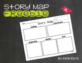 FREEBIE! Story Map - Setting, Characters, Beginning, Middle, End