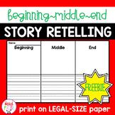 FREEBIE: Story Retelling | Beginning, Middle, End