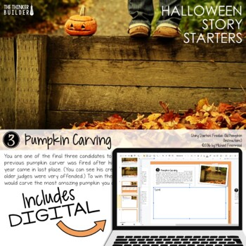 FREEBIE: Story Starters for Halloween {Not Your Ordinary Writing Prompts!}