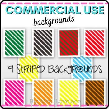 **FREEBIE** Striped Backgrounds and Frames - Commerical or